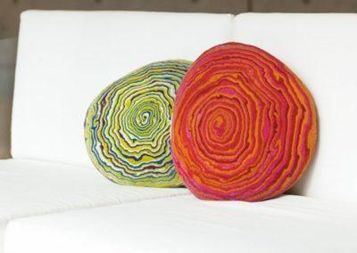 originální vlněné polštáře a doplňky Lene Frantzen