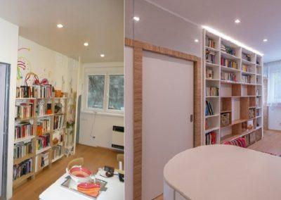 knihovna a nové dveře