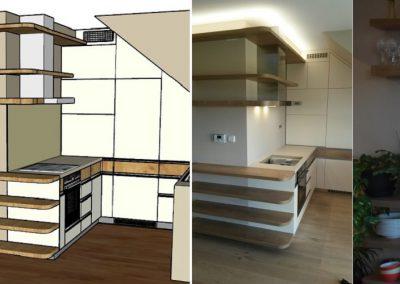 původní stav, návrh, montáž a bydlení 1