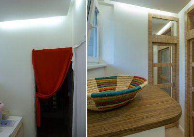 doplnění dveří a nábytek v předsíni