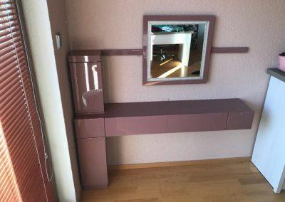 toaletka, verze se zrcadlem